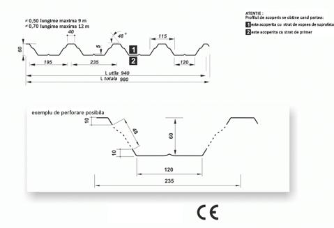 tabla cutata hala industriala t60 sec
